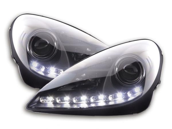 Daylight headlight Mercedes SLK R171 Yr. 04-11 black
