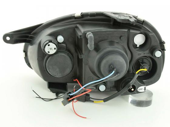 headlight Opel Corsa B Yr. 94-00 black