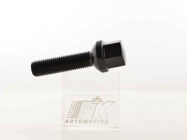 Wheel bolts Set (8 pieces), M12 x 1,5 35mm domed, black