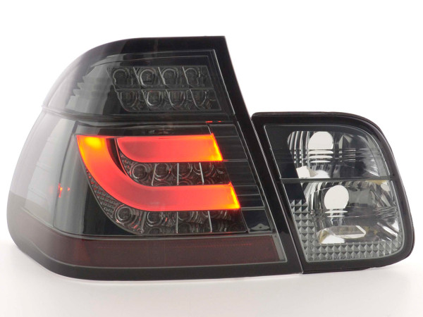Led Taillights BMW serie 3 E46 saloon Yr. 02-05 black