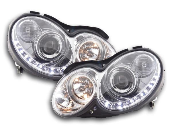 Daylight headlight Mercedes CLK W209 Yr. 04-09 chrome