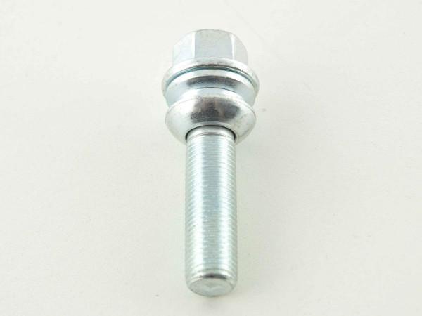 Wheel bolt, L= 28 mm M14 x 1,5 silver