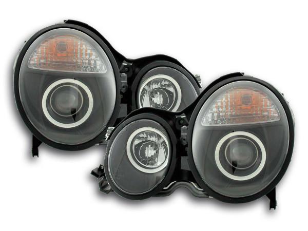 Headlight Mercedes E-Classe type W210 Yr. 97-01 black RHD
