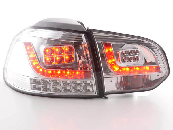Led Rear lights VW Golf 6 type 1K Yr. 2008-2012 chrome with led indicator