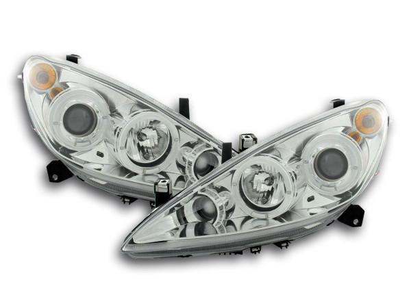 headlight Peugeot 307 Yr. 01-06 chrome