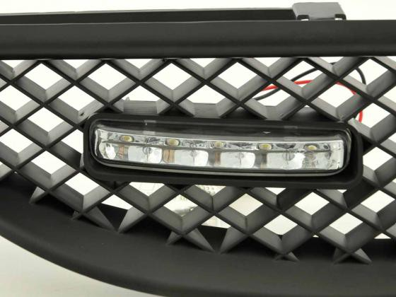 Sportgrill with position light Renault Megane Yr. 99-02 black