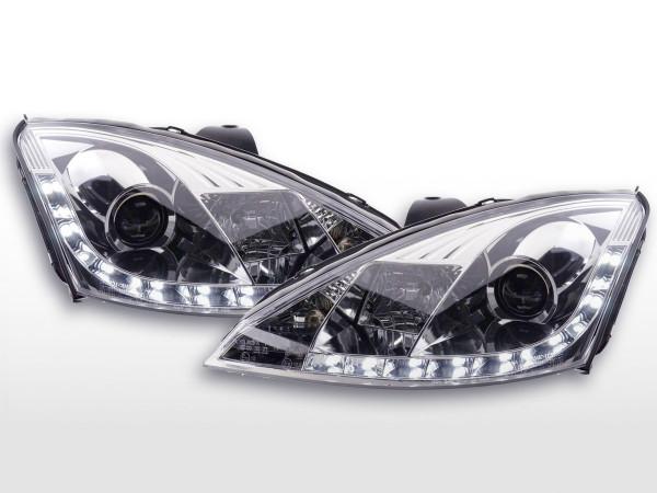 DRL Daylight headlight Ford Focus 1 C170 chrome