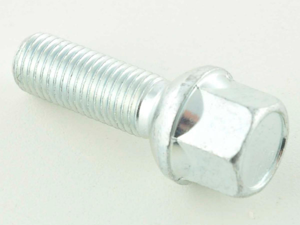 Wheel bolt, M12 x 1,5 35mm domed silver