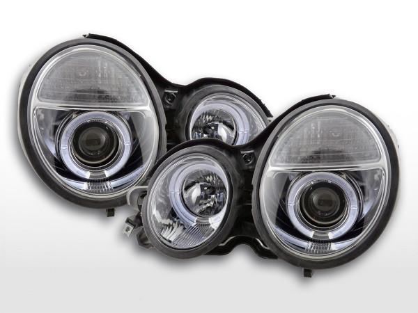 Headlight Mercedes E-Classe type W210 Yr. 97-01 chrome RHD