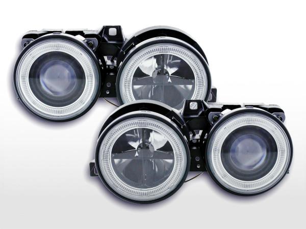 Angel Eye headlight BMW serie 3 type E30 2/4 door. Yr. 87-91 black