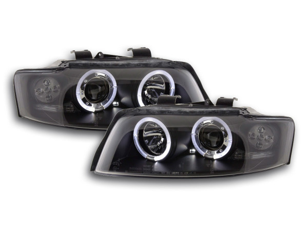headlight Audi A4 type 8E Yr. 01-04 black