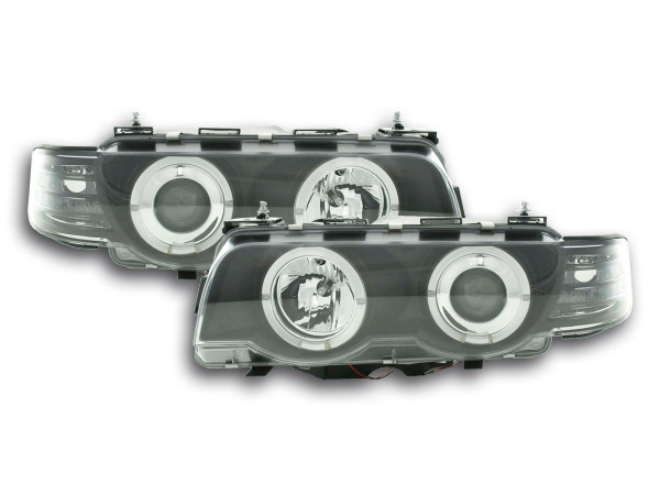 headlight BMW serie 7 type E38 Yr. 99-02 black