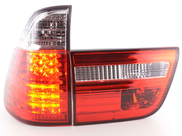Led Taillights BMW X5 type E53 Yr. 98-02 clear/red