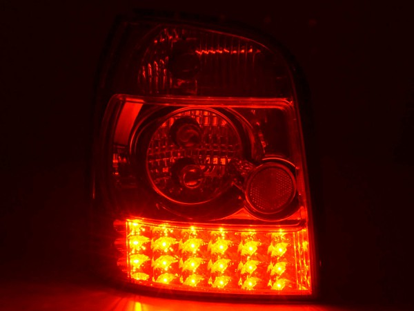 Led Taillights Audi A4 Avant type B5 Yr. 95-00 chrome