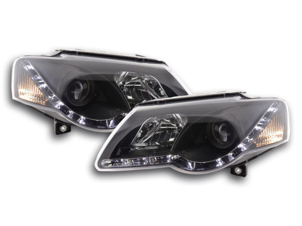 Daylight headlight VW Passat type 3C Yr. 05- black RHD