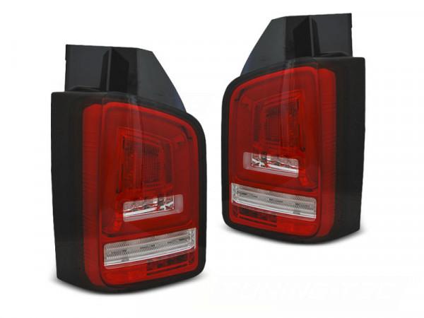 Led Bar Tail Lights Red White Seq Fits Vw T6 15-19 Tr