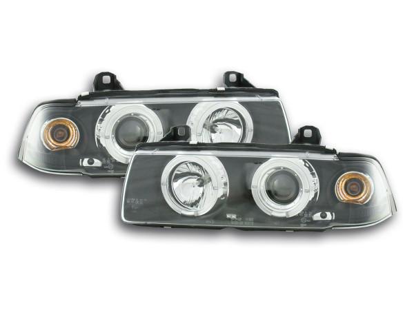headlight BMW serie 3 Coupe type E36 Yr. 92-98 black
