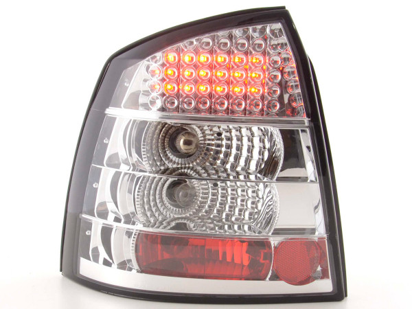 Led Taillights Opel Astra G 3/5-dr Yr. 98-03 chrome