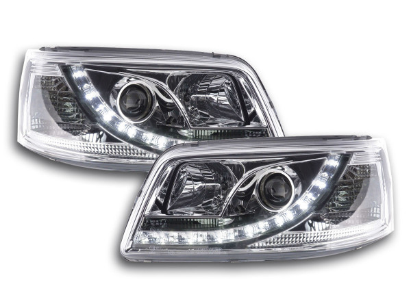 Daylight headlight VW Bus type T5 Yr. 03-09 chrome