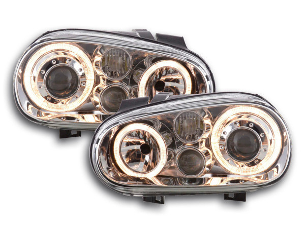 Angel Eye headlight VW Golf 4 type 1J Yr. 98-03 chrome