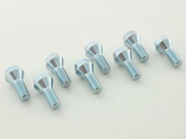 Wheel bolts Set (8 pieces), M14 x 1,25 26 short head