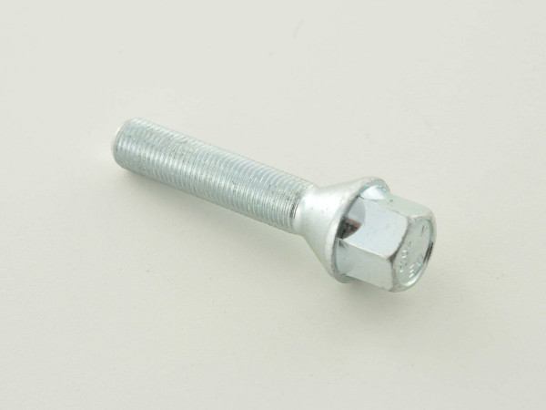 Wheel bolt, M12 x 1,25 50mm domed silver