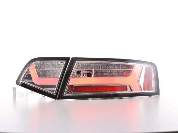 LED rear lights Lightbar Audi A6 4F saloon Yr. 08-11 chrome