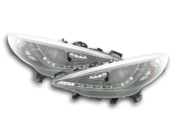 Daylight headlight Peugeot 207 Yr. 06- black