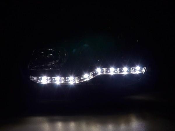 Daylight headlights with LED DRL look VW Golf 4 type 1J Yr. 98-03 black