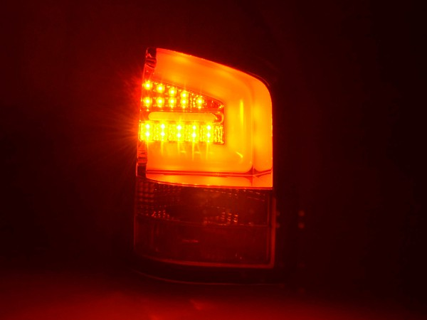 Taillights Set LED VW T5 Yr. 2010- chrome