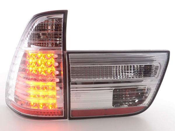 Led Taillights BMW X5 E53 Yr. 98-02 chrome