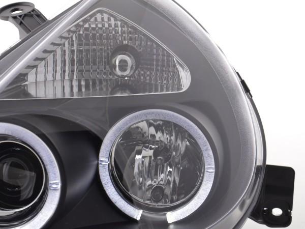 headlight Ford KA type RBT Yr. 97- black