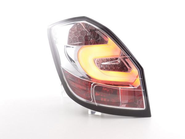 Led Taillights Skoda Fabia 5J 5-Dr. Yr. 07-10 chrome