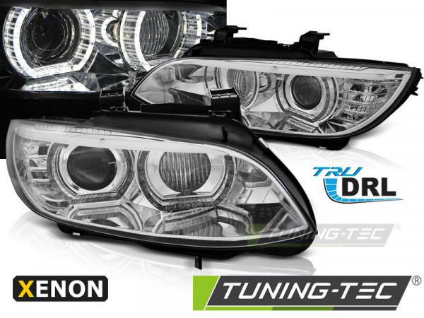 Xenon Headlights Angel Eyes Led Chrome Fits Bmw E92/e93 06-10
