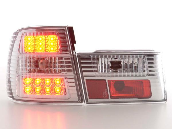 Led Taillights BMW serie 5 type E34 Yr. 88-94 chrome