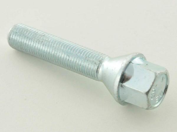 Wheel bolt, M12 x 1,25 45mm domed silver