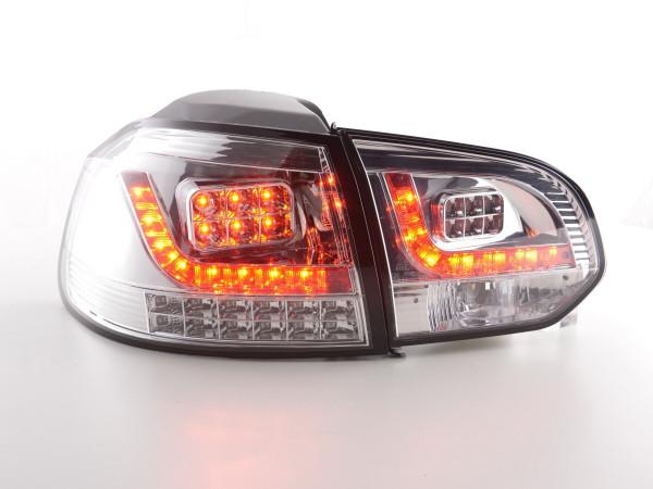 Led Taillights VW Golf 6 type 1K Yr. 2008-2012 chrome with Led indicator