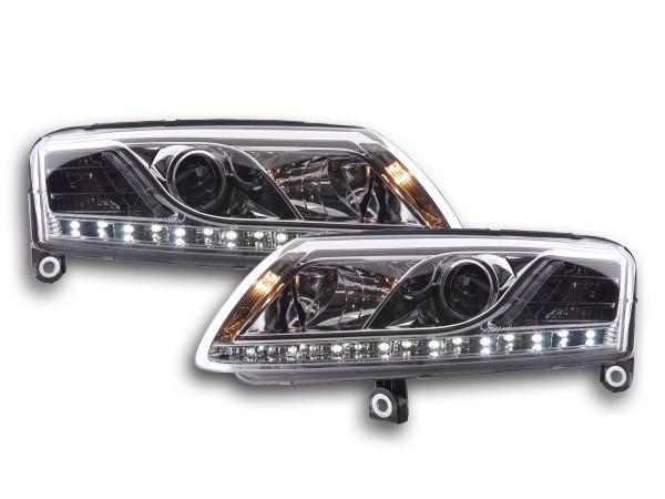 Daylight headlight Audi A6 type 4F Yr. 04-08 chrome