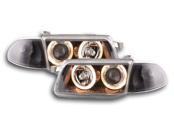 Angel Eye headlight Opel Astra F Yr. 91-97 black