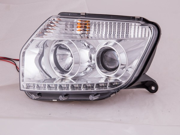 Daylight headlights for Dacia Duster from 2014 on chrome