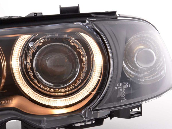 Angel Eye headlight BMW serie 3 Coupe type E46 Yr. 98-01 black