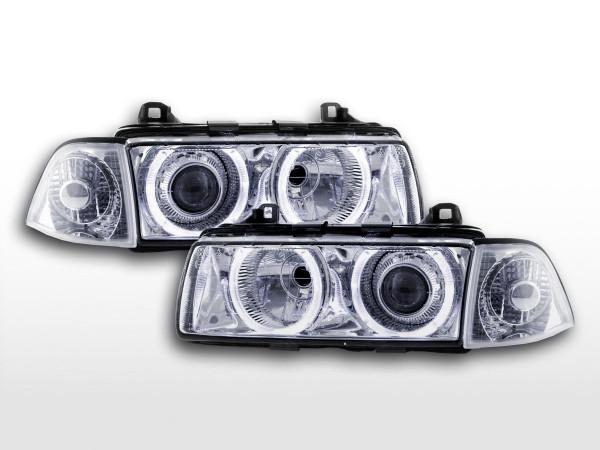 headlight Angel Eyes BMW serie 3 Coupe type E36 Yr. 92-98 chrome Xenon