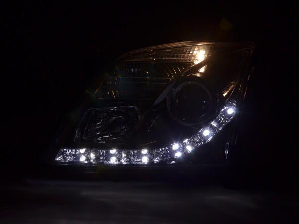 Daylight headlight Opel Vectra C Yr. 02-05 chrome RHD