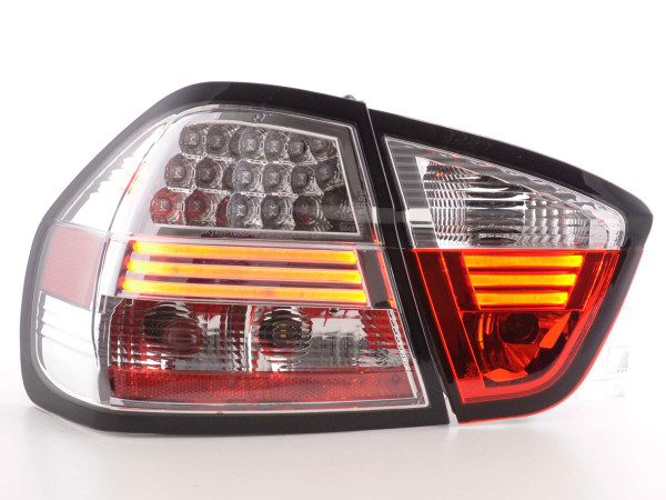Led Taillights BMW serie 3 E90 saloon Yr. 05-08 chrome