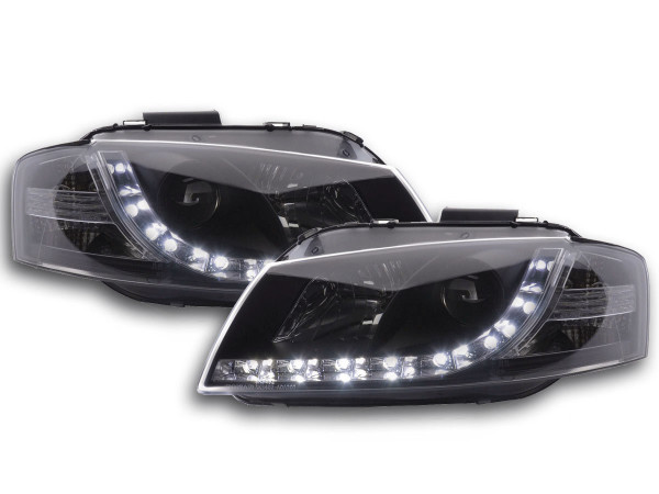 Daylight headlight Audi A3 type 8P Yr. 03-07 black