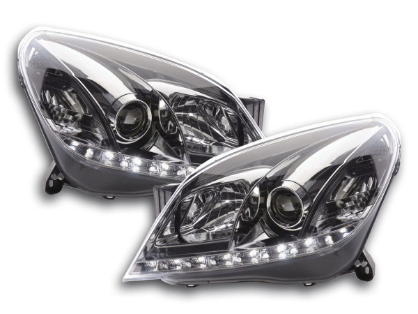 Daylight headlight Opel Astra H chrome