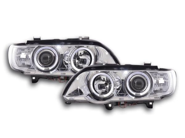Headlight BMW X5 E53 Yr. 98-02 chrome