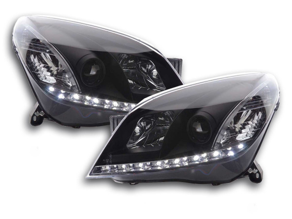 Daylight headlight Opel Astra H black