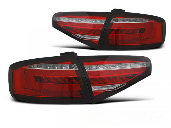 Led Bar Tail Lights Red Whie Seq Fits Audi A4 B8 12-15 Sedan Oem Bulb