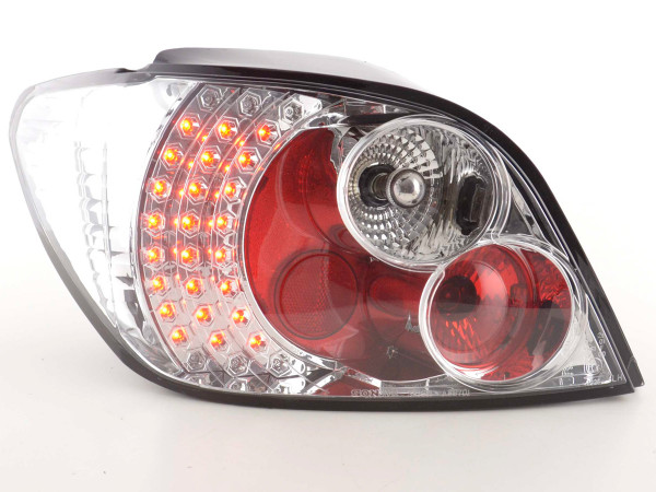 Led Taillights Peugeot 307 Yr. 01-04 chrome